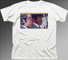 PULP FICTION POP TRAVOLTA SAMUEL L JACKSON  white cotton t-shirt 9892