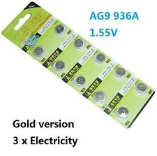 10X Batteries AG9 L936 LR45 394A SR45 Coin Button Cell Battery Watch camera ψ