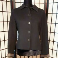 CHARTER CLUB Reversible Black/Plaid Wool Blend Jacket Size Petite Blazer.