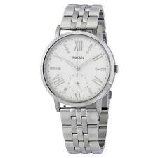 Fossil ES4160 GAZER weißes Zifferblatt Damen Stahl Armbanduhr