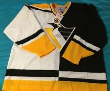 MARIO LEMIEUX SIGNED RARE CCM PITTSBURGH PENGUINS VINTAGE Home/Away JERSEY,New