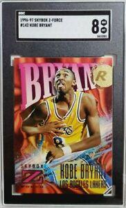 1996 Skybox Z Force #142 Kobe Bryant Rookie Card RC SGC 8 NM-MT Lakers