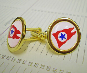 Blue Star Line, Shipping Line, Gold Plated Cufflinks.