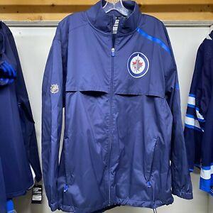 WINNIPEG JETS NHL USED WORN HOME COACHES PRACTICE JACKET PAUL MAURICE XL