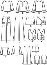 SIMPLICITY 5355 EASY wardrobe pattern  SKIRT PANTS BLOUSE TOP WAISTCOAT 11-16 yr