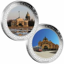 2013 Sister Cities Melbourne and St. Petersburg 1oz Silver Proof Lenticular Coin