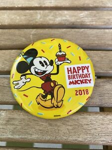 2018 Happy 90th Birthday Mickey Mouse Walt Disney World Button Pin (31)