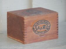 Vintage El Rey Del Mundo Wooden Cigar Box Tobacciana Cigar Smoking Tool Decor