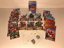 MARVEL SUPER HERO SQUAD Complete MASTER CARD SET w/ ALL CHASE CARDS & FOIL TOO!