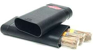 Fess Black Telescoping 3 Cigar Crush proof Smell Proof Odor Resistant Airtight T