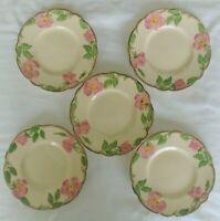 5 Vintage Franciscan Desert Rose Earthenware Gladding, McBean Co. Bread Plates