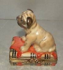 New Boxer Pug Dog, Limoges Box Number 71 New