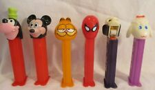 6 Vintage PEZ dispensers MICKEY MOUSE GOOFY GARFIELD SPIDERMAN LAMB CHOP SKULL