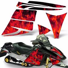 Decal Graphic Kit Ski Doo Rev Skidoo Sled Snowmobile Sticker Wrap 03-09 ICE RED