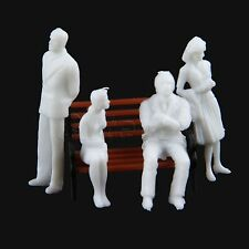 Great Collectible White Unpainted Model Train People Figures 1 100 Plastic 100pc