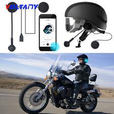 Helmet Headset Speakers Motorcycle+Mic Bluetooth Handsfree Call Control CSR8635