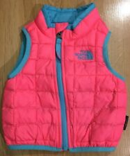 The North Face Thermoball Down Vest Baby Toddler Size 6/12 Months Pink And Blue