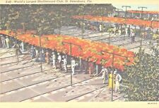 St Petersburg, FL ~ World's Largest Shuffleboard Club ~ 1943 Linen Postcard