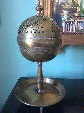 Ancien Encensoir Brûle-parfum en Dinanderie Art Islamique XVIIe ou avant
