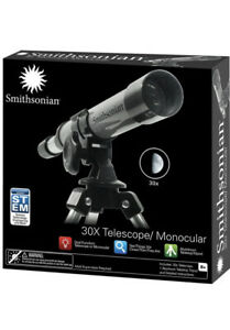 Smithsonian STEM 30x Telescope with Aluminum Tabletop Tripod new sealed