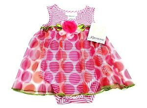 Bonnie Baby Baby-girls 3-18 Months Pink Watering Can Seersucker Bubble C6363