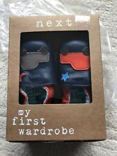 Next Leather Booties Pram Shoes 0-3mths BNWT New Baby Gift NEW