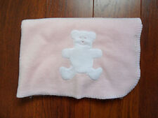 77c0758dc8 Pink Bear Baby Blanket White Bear Fleece Blankets and Beyond Pink Plush