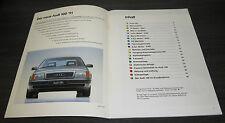 Audi 100 C4 4 5 Zylinder V6 Selbststudienprogramm  SSP 126 Stand 11/90