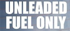 UNLEADED FUEL ONLY Warning Sticker - Ideal for Car/Van/Motorcycle/Lawnmower