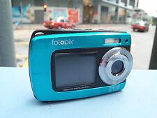 Blue 18MP underwater digital camera, 3m Waterproof Dual Screen, supports 32GB TF