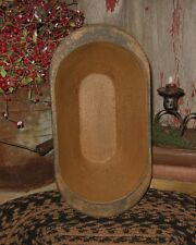 Wood Trencher Dough/Bread BOWL*MUSTARD*Primitive/French Country Farmhouse Decor