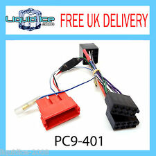 PC9-401 AUDI CABRIOLET 2003 ONWARD HALF AMPLIFIED ISO STEREO RADIO ADAPTOR LEAD
