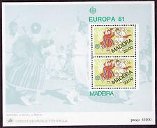 Madeira - Europa 1981 Bailinho folk dance miniature sheet MNH SGMS179