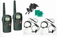 PAIR INTEK MT3030 WITH THROAT MICS VOX PMR446 AND LPD FREE USE RADIOS - WALKIE