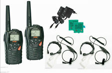 PAIR INTEK MT3030 WITH THROAT MICS VOX PMR446 AND LPD FREE USE RADIOS - WALKIE