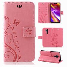 LG G7 ThinQ Handy Tasche Handyhülle Wallet Buch Schutz Hülle Blumen Flip Cover