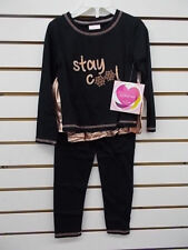 Girls Youngland 2pc Black & Copper Outfit Size 4 - 6X