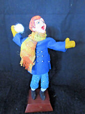 """RARE OLD SIMPICH Character Doll """"SNOWBALL BOY"""" No Hat"""" w/Base 8.5"""" SR"""