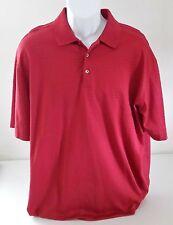 Nike Tiger Woods Red Short Sleeve Dri Fit Polo Golf Shirt Mens XL