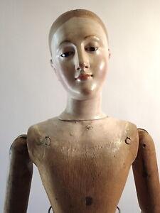 """18th Century Santos Mannequin 3' 8"""" Articulated Doll Religious Saint Museum Qual"""