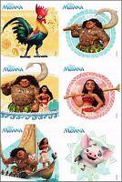Disney Moana Stickers x 6  - Birthday Party Loot - Party Stickers Birthday Fun