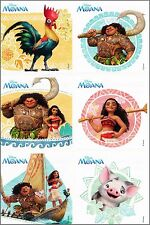 Disney Moana Stickers x 6  - Birthday Party Loot - Party Stickers Birthday Fun