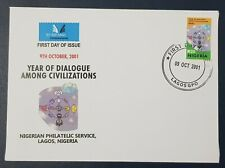 NIGERIA  2001 DIALOGUE AMONG CIVILIZATIONS - JOINT ISSUE - ULTRA RARE FDC