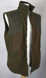BARBOUR Men's gilet Northumberland green fleece with zip fastening UK size large