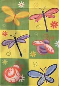 "SUMMER BUGS New Large Decorative House Flag ""28 x 40"""
