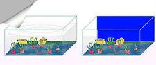 Fish Tank Decorations Transparent  Effect Self Adhesive Sticky Back Plastic Film