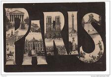 75 PARIS lettres alphabet monuments voyagé 1905