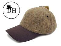 Denton Hats Tweed Baseball Cap BR104 Brown Hat Outdoors One Size 100% Wool