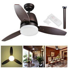 "42"" Indoor Ceiling Fan with LED Light Kit 3 Blades Remote Control Color Changing"
