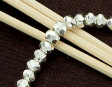 Karen Hill Tribe Silver 15 Faceted Beads 5x3.5mm.